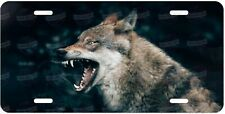 Angry Wolf Animal Wildlife License Plate for Auto ATV Motorcycle Bike Wall Sign