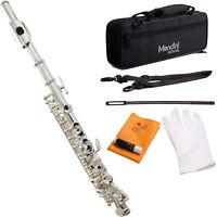 Mendini Silver Plated ~Key of C Piccolo +Case+Care kit