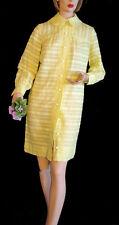 Mod Yellow Shift Dress 60s Dress Vintage Jonathan Logan M Cotton Summer Dress