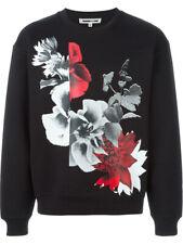 McQ by Alexander McQueen Black Floral Collage Print Sweatshirt Size L