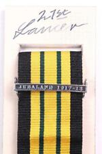 EDVII AGSM AFRICA GENERAL SERVICE MEDAL CLASP or RIBBON BAR JUBALAND 1917-18