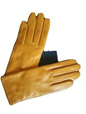BNWOT yellow Real Leather Gloves
