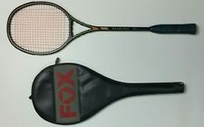 "Vintage FOX SQUASH PLUS Racket - ""made with KEVLAR"" & GRAPHITE + Cover  - Rare"