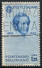 ITALIA 1935 SG # 465, 1L25 VINCENZO BELLINI USATO CAT £ 13 #D 6030