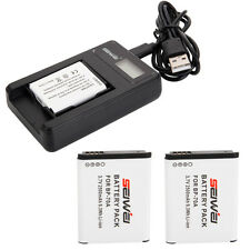 BP-70A BP70A 2500mAh Battery for Samsung SL50 ES65 PL80 PL100 / 2PCS + Charger
