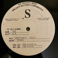 Prince - Insatiable - 1991 Rare Test Pressing PRO-A-5141-B (NM) Ultrasonic Clean