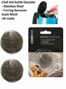 Chef Aid Kettle Limescale Descaler Steel Wire Fur Collector Remover MADE IN UK