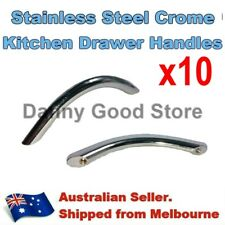 10 Polished Chrome Steel Pull Bow Handles For Kitchen Cabinet Cupboard Draw 96mm