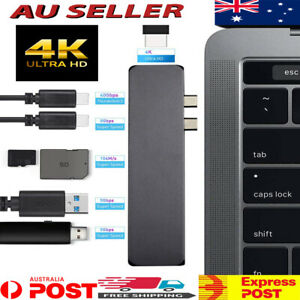 USB Hub Type-C to USB 3.1 4K Ultra HDMI SD/TF reader VGA Multi Station For MAC