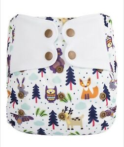 Elf Diaper All-in-Ones - Bamboo Cotton (Popper/Snaps)