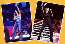 Laura PAUSINI - 2 SUPER - Autogramm Bilder - Print Copies + Musik AK signiert