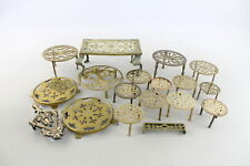 More details for 18 x antique / vintage bronze & brass trivets inc archibald kenrick & sons 3231g