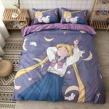 Sailor Moon 3PCS Juego de cama chicas Anime Funda De Edredón Cubierta Edredón Fundas De Almohada