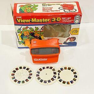 Vintage 1990 Teenage Mutant Ninja Turtles View Master 3-D Gift Set