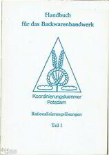 Handwerkskammer Potsdam Handbuch Rationalisierungslösungen Bäckerei DDR 1986