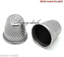 6 Silver Thimbles Finger Protectors Sewing Grip Metal Needle Pins 1st Class Post