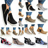 Womens Ladies High Top Sneakers Flat Casual Ankle Boots Zip Trainers Shoes Size