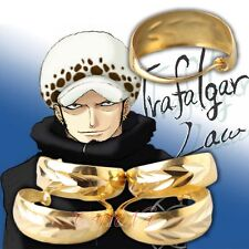 Cafiona Hot One Piece Trafalgar Law Cosplay Accessory Golden Circle Earrings