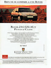 Collectibles Publicité Advertising 018 1987 Rover La 214 Si 16v Coupé Other Breweriana