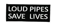 Patch ecusson loud pipes save lives biker motard thermocollant rebel