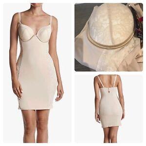 maidenform shapewear firm foundation cup slip bra 34d Nude like spanx
