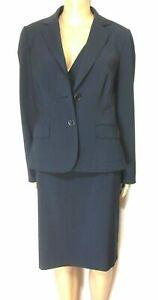 David Lawrence 3pc. skirt suit, pin striped, sz, 10, black/grey