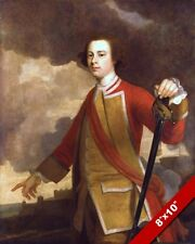 MAJOR GENERAL JAMES WOLFE BRITISH ARMY PORTRAIT PAINTING ART REAL CANVAS PRINT