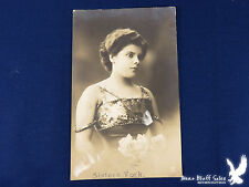 Sisters York Lovely Lady GGCP13 RPPC Slinky Straps Sequins Half Penny Stamp