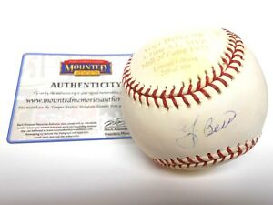 210/500 Yogi Berra ENGRAVED Signed Autographed Auto Baseball Mounted Memories