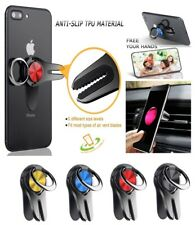 Ring Holder Air Vent Car Phone Mount 360° Rotation Metal Finger Ring Grip Stand
