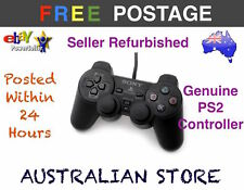 GENUINE Dual Shock Game Controller BLACK For SONY PlayStation 2 PS2 Console