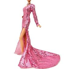 Handmade Gown Pink Sequin Gown For Barbie Muse Doll