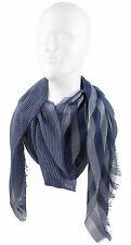 Schal Sommerschal Webschal Streifen modisch blau weiß 100% Baumwolle R-146
