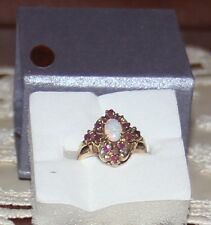 10K  OPAL AND RUBY RING