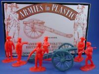 ARMIES IN PLASTIC 5479 AMERICAN REVOLUTION BRITISH ARTILLERY SET FREE SHIP