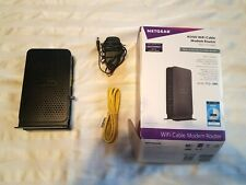 Netgear C3000 N300 WiFi Cable Modem Router 802.11 n Gigabit 8x4 Channel Bonding