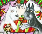 MINIATURE SCHNAUZER Vacation in Mexico 2.5 x 3.5 ACEO Dog Pop Art Print by KSams