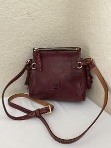 Dooney & Bourke Florentine Burgundy Leather Mini Crossbody Handbag