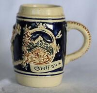 Vintage Retro Porcelain Beer Stein Tankard Mug 10 cm 200 ml