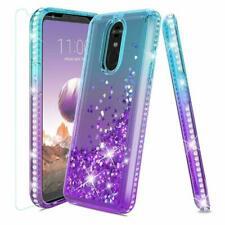 LG Stylo 4 Stylo 4 Plus Q Stylus Bling Luxury Glitter Case Tempered Glass