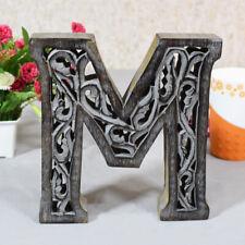 "Handmade Eco-Friendly Wall Décor ""M"" Alphabet Letter Block"