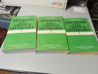 Libro Antologia De Crítica Literaria Luigi Ruso 3 Voumi Ed. D' Anna 1959