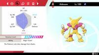 Pokemon Sword & Shield Ultra Shiny Alakazam 6IV Trading Now Isle of Armor