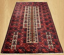 Authentic Hand Knotted Afghan Balouch Prayer Wool Area Rug 4 x 3 Ft (172 Hm)
