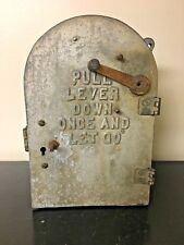 Vintage VTG Antique Harrington Seaberg Tombstone Fire Alarm Call Box Lever