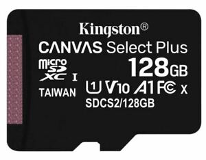 Kingston Micro SD Card 32GB 64GB 128GB Class 10 SDHC SDXC Phone Memory & Adapter
