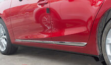 Chrome Body Side Line Moulding Protector Cover For Mazda 3 BM BN 14-18 Hatch