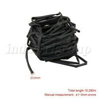 Black Plastic Guitar Heat Shrink Tube for Electric Guitar Bass Wires Cables