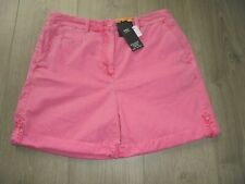 M&S MARKS & SPENCER BRIGHT PINK COTTON SHORTS UK SIZE 10