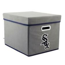 MLB CHICAGO WHITE SOX FOLDING STACKABLE FABRIC STORAGE BIN w/LID